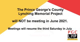 No PGCLMP meeting during June